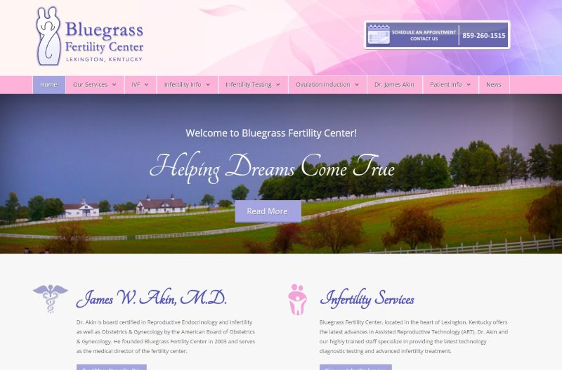 Bluegrass Fertility Center and Dr. James Akin - Lexington, KY